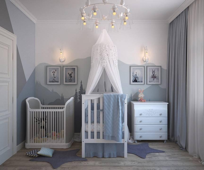minimalistyczna fototapeta w pokoju dziecka